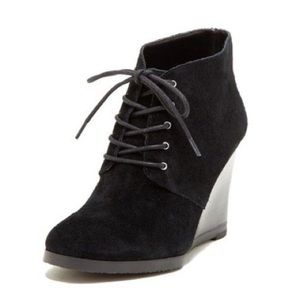 Franco Sarto Weston Suede Lace Up Ankle Bootie